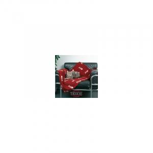 Fleecetæppe rød 100 x 70 cm.