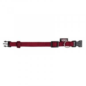 Premium Halsbånd, M-L 35-55 cm/20 mm. Bordeaux.