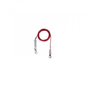 Gårdkæde m. springfjeder, rød, 5 M