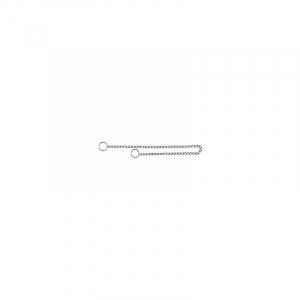 Kvælerhalsbånd hund, kæde 40 cm / 2,0 mm