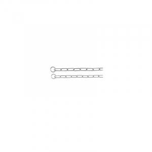 Kvælerhalsbånd kæde 50 cm. / 3,0 mm. Lang led, til langhårede.