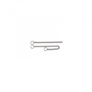 Kvælerhalsbånd kæde 45 cm. / 2,5 mm. Rustfri.