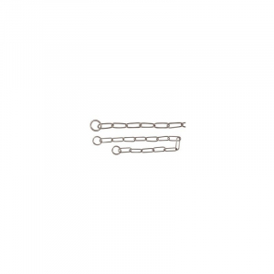 Kvælerhalsbånd kæde 59 cm. / 4,0 mm. Rustfri, lang led, til langhårede.
