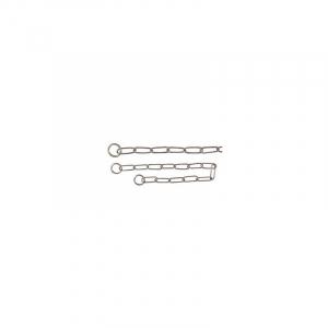 Kvælerhalsbånd kæde 63 cm. / 4,0 mm. Rustfri, lang led, til langhårede.