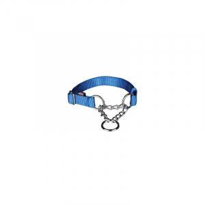 Kvælerhalsbånd Premium, M-L, 35–50 cm/20 mm. Blå