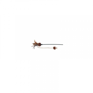 Drillepind med sommerfugl, bold og fjer, 54 cm.