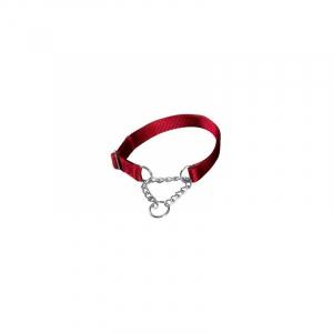 Kvælerhalsbånd Premium, L-XL, 45–70 cm/25 mm. Rød