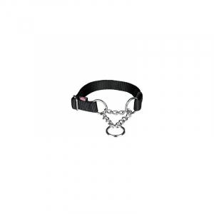 Kvælerhalsbånd Premium, L-XL, 45–70 cm/25 mm. Sort