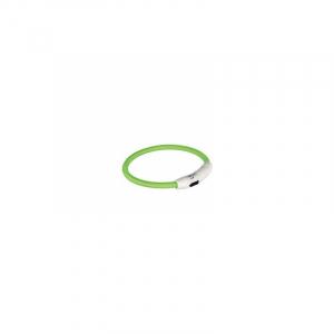 Flash light ring med USB opladning M-L 45 cm./Ø 7 mm. limegrøn