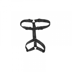 VGW Beginner anti træk sele 1, 36-49 cm. brystomkreds, Sort