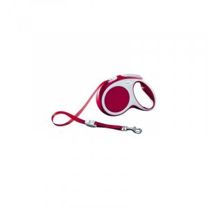 Flexline Vario med bånd, M, 5 M, 25 kg. Rød