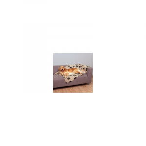 Fleecetæppe Gråbrun 150 x 100 cm.