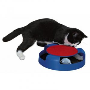Fang musen legetøj. Ø25 x 6 cm. Diverse farver.