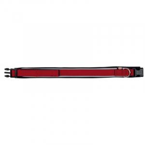 Premium Halsbånd med neopren, L, 48-55 cm./30 mm., Rød