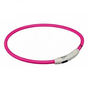 Flash light ring med USB opladning L-XL 65 cm./Ø 7 mm. Pink