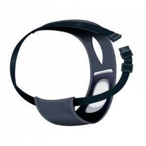 Løbetidsbukser med fuldt justerbart elastikbælte, sort, XL 60-70 cm.