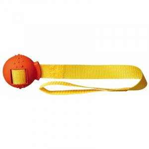 Bold på rem med håndtag, naturgummi, Ø 6/ 48 cm. Diverse farver.