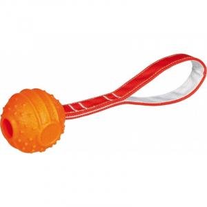 Blød og stærk bold på reb, termoplastisk gummi og polyester. Med håndtag. Flydbar. Ø 7/ 29 cm.