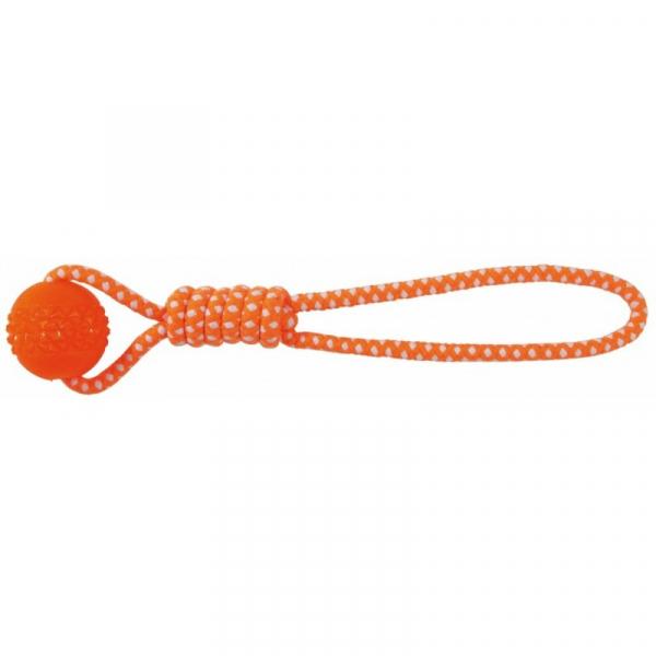 Bold på reb, Thermoplastisk gummi. Meget robust og holdbar. Med håndtag. Ø 6/42 cm.