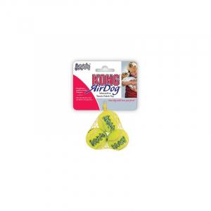 Kong AIRDOG SQUEAKER Tennisbold 3 stk. XS, Ø 4 Cm. Med piv.