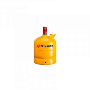 Gasflaske 2 kg. Gul stål, inkl. gas. Medlemspris