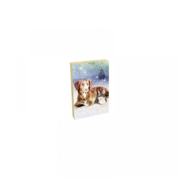Planet pet julekalender for hund, 24 x 2 g., naturlige ingridienser.