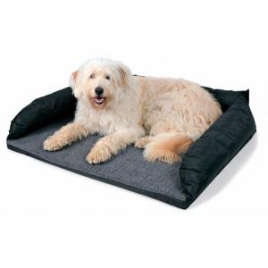 Bil seng til hund 95 x 75 cm. sort/grå