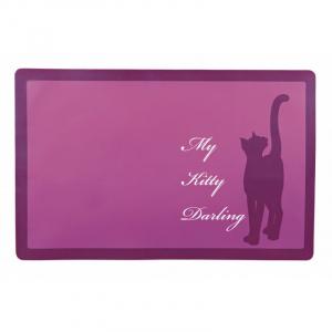 Skåleunderlag kat, My kitty darling, 44 x 28 cm. Plast, skridsikker.
