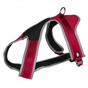 Touring sele Ekstra høj kvalitet, elastisk og holdbar til din hund. L-XL, 70-100 cm./20 mm. Rød.
