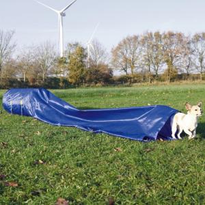 Agility sække tunnel til hund. Ø60 cm./5 M. Blå