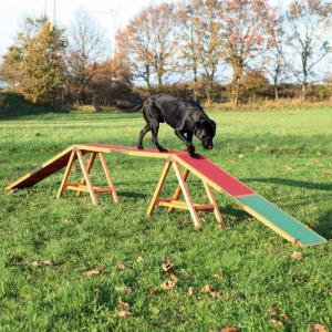 Agility rampe til hund. 456×64×30 cm. op til 80 kg.