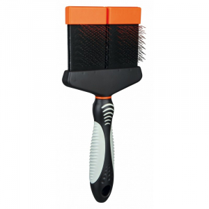 Blød børste Forsigtig pleje af over og under uld. 10 × 21 cm.