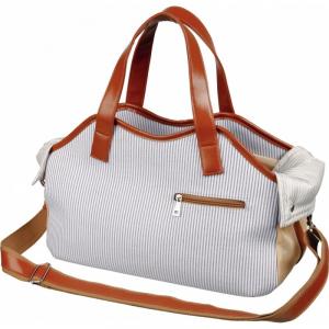 Transporttaske Lærred udseende med kunstlæder. 20 × 27 × 42 cm.