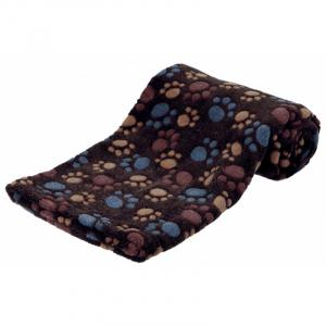 Laslo tæppe Blød fleece Ekstra blød og nuttet. 100 x 70 cm. Mørkebrun