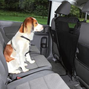 Bil skillerum som forhindrer hunden i at komme på forsædet. 60/44 × 69 cm. Sort
