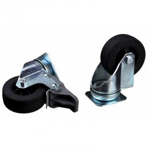 Hjul til Tour Transport Box Skudo 2 styrbare forhjul med blokeringssystem 2 faste baghjul