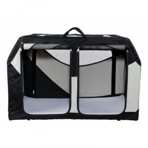 Vario Dobbelt Transport Box. Særlig stabil på grund af metal ramme. S 91 x 60 x 61/57 cm.