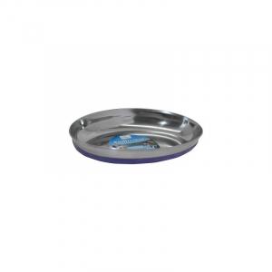 Katteskål rustfri antislip oval Blå 0,25 L