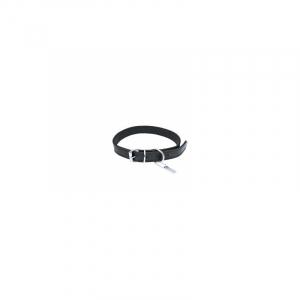 Halsbånd læder, sort. Til hund. 12 mm. x 35 cm.