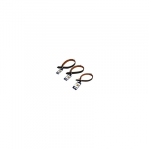 Halsbånd Læder, dobbeltsyet, blødt, 24 mm. x 45 cm.
