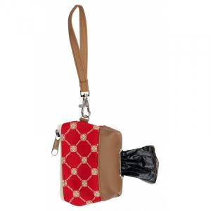 Taske af immiteret læder til høm høm poser, incl 1 rulle poser.