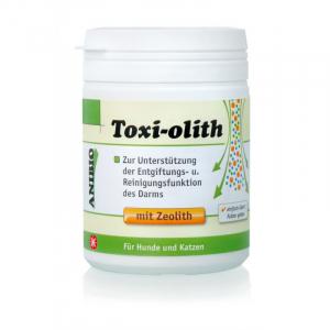 ANIBIO Toxi-Olith 130 g. Til støtte ved afgiftning og rengøringsfunktion af tarmene. Til kat og hund.