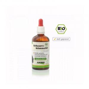 Anibio Schwarzkümmelöl, 100 ml. Hud og pels problemer, Psoriasis, Allergier, insekter.
