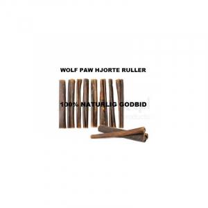 Wolf Paw Hjorte Hud Ruller 3 stk. ca. 100 g. Hud fra hjort, nænsomt tørret.