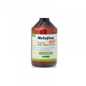ANIBIO Melaflon Spray 1000 ml. u/sprayhoved. Bruges mod flåter, lopper og mider på dyret.