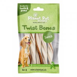 PP Lamb Twist Bones. Planet Pet Society. 60 g (5 stk / 11,5 cm)
