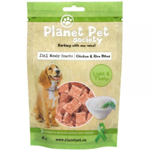 PPS 2IN1 Chicken & Rice Bites 80 g. Planet Pet Society