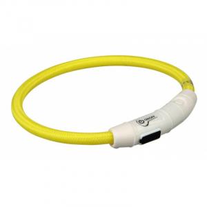 Flash light ring med USB opladning XS-S 35 cm./Ø 7 mm. Gul