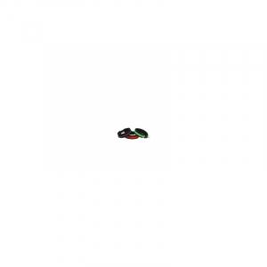 ALAC Hvalpe halsbånd Refleks Grøn Fleece 10 mm.x20 cm.
