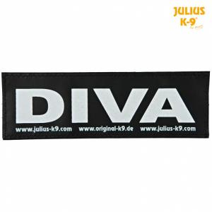 Julius-K9® Velcro-klistermærke L, DIVA.